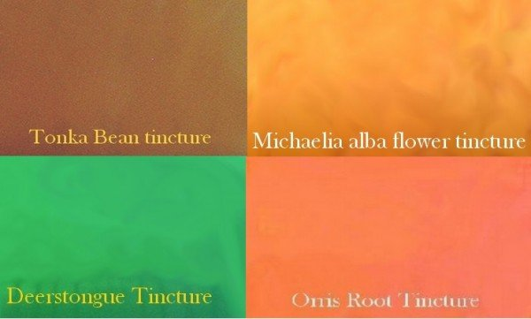 Four aromatic tinctures