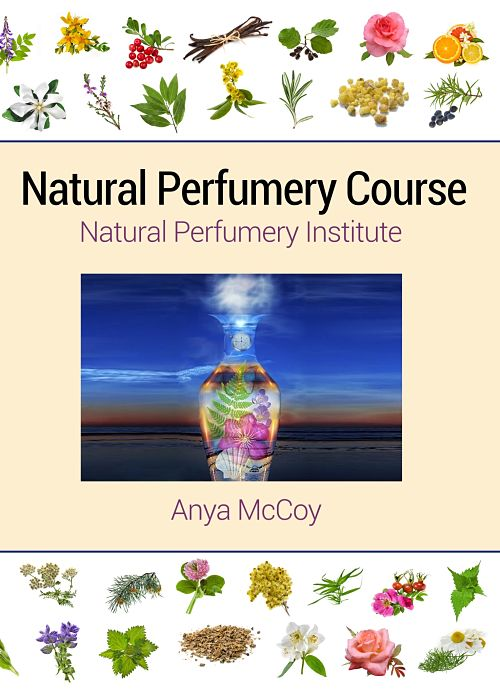 Natural Perfumery Institute cover. Textbook written by Anya McCoy.