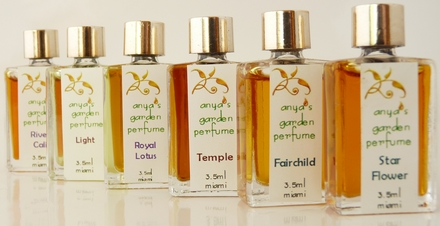 several pure perfumes from anya's garden perfumes